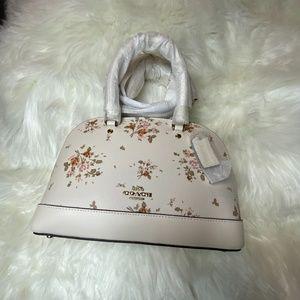 COACH mini Sierra Satchel Bag With Rose Bouquet